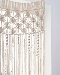 "Mkono Macrame Curtain Wall Hanging Boho Wedding Backdrop, 29"" W x 80"" L"