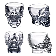Crystal Skull Head Vodka Whiskey Shot Glass Cup Drinking Ware Home Bar Mug (4)