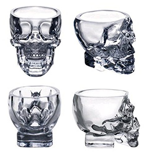 Crystal Skull Head Vodka Whiskey Shot Glass Cup Drinking Ware Home Bar Mug (2)