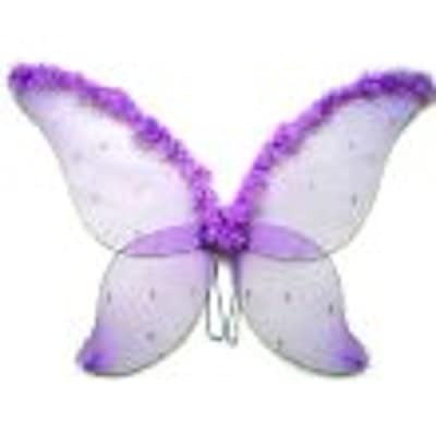 Large Purple Fairy Wings with Feather (33 in) by Cutie Collection: Toys & Games