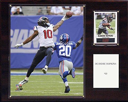 NFL Houston Texans Deandre Hopkins Player Plaque, 12 x 15-Inch, Brown