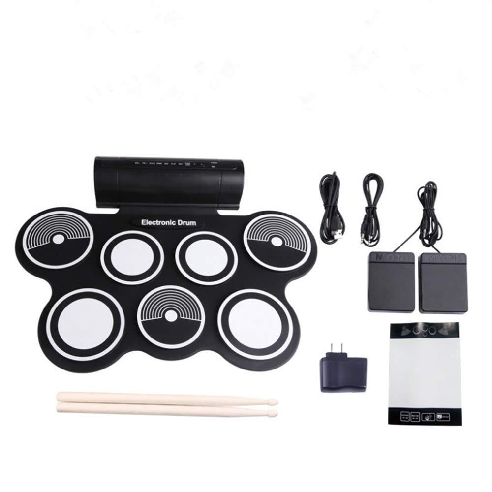Xiejuanjuan Electronic Roll Up MIDI Drum Kit Roll Up Electronic Drum Entertainment Portable Pad Kit with Speaker Kids Gift Children's Day by Xiejuanjuan