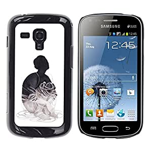 TaiTech / Prima Delgada SLIM Casa Carcasa Funda Case Bandera Cover Armor Shell PC / Aliminium - Cableado - Samsung Galaxy S Duos S7562