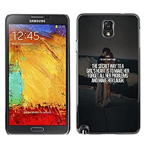 Plastic Shell Protective Case Cover || Samsung Galaxy Note 3 N9000 N9002 N9005 || Quote Love Text Heart @XPTECH