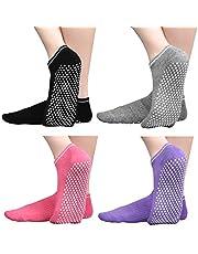 Anti Slip Non Skid Slipper Socks with Grips Sticky Home Hospital Athletic Socks for Adult Women Men