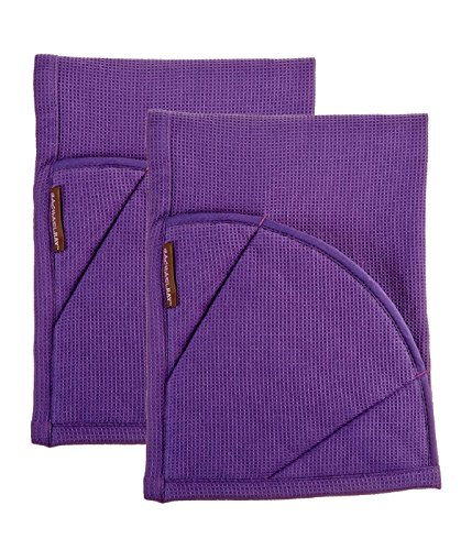 Rachael Ray Multifunctional 2-in-1 Moppine, Ultra Absorbent Kitchen Towel & Heat Resistant Pot Holder, Lavender- 2pk by Rachael Ray