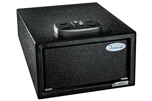 Biometric Pistol Safe, Quick Access Fingerprint Handgun Safes, Smart Gun Safe with Auto-Open Lid and Digital Keypad (Standard Size-biometric)