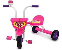 Triciclo Ultra Bike Top Girl Velotrol Motoca Branco/Rosa