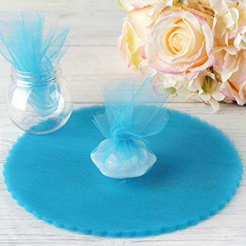 Mikash Tulle Wrappers Circles 9 DIY Crafts Sewing Wedding Party Favors Decorations | Model WDDNGDCRTN - 1520 | 200 pcs