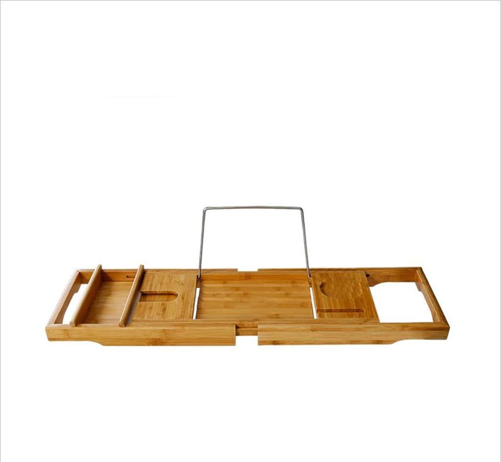TubL Bathtub Stand, Bamboo Wood Non-Slip Bathtub Stand Adjustable Telescopic tub Bathtub Bracket Bathtub Tray Tray Shelf Bracket Size: 74.5-108.622.6cm