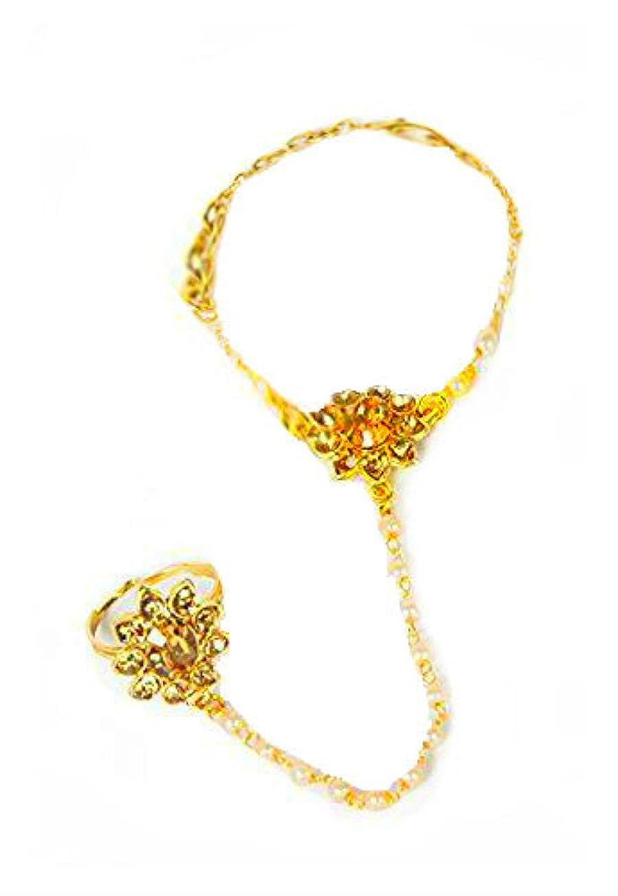 Mano de Oro Panja India Joyas Bollywood Kundan Mano Cadena ...