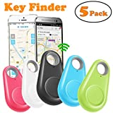 GBD Smart Key Finder Locator for Kids Boys Girls Pets Key Wallet Car Dog Cat Child Bag Phone Alarm Anti Lost Tracker Selfie Shutter Wireless Seeker Easter Holiday Birthday Gifts (5 Pack)