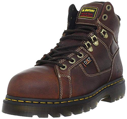 Dr. Martens Men's Ironbridge Steel IM Boot,Teak/Black,12 UK/13 M US