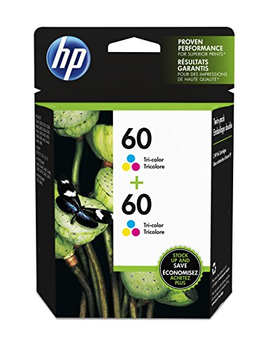HP 60 Tri-color Original Ink Cartridge (CC643WN), 2 Cartridges (CZ072FN)