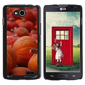 Paccase / SLIM PC / Aliminium Casa Carcasa Funda Case Cover para - Halloween Orange Autumn Holiday - LG OPTIMUS L90 / D415