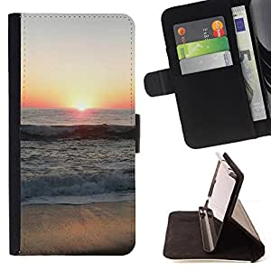 DEVIL CASE - FOR Sony Xperia M2 - Sunset Beautiful Nature 66 - Style PU Leather Case Wallet Flip Stand Flap Closure Cover