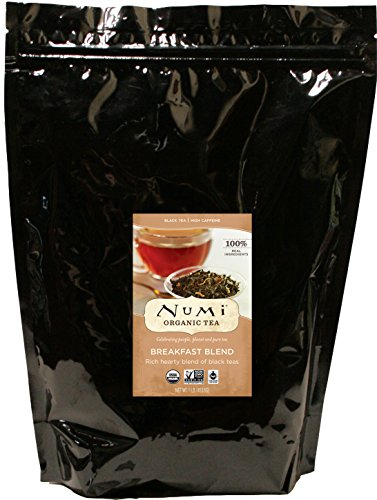 Numi Organic Tea Breakfast Blend, 16 Ounce Pouch, Loose Leaf Black Tea (Packaging May Vary)