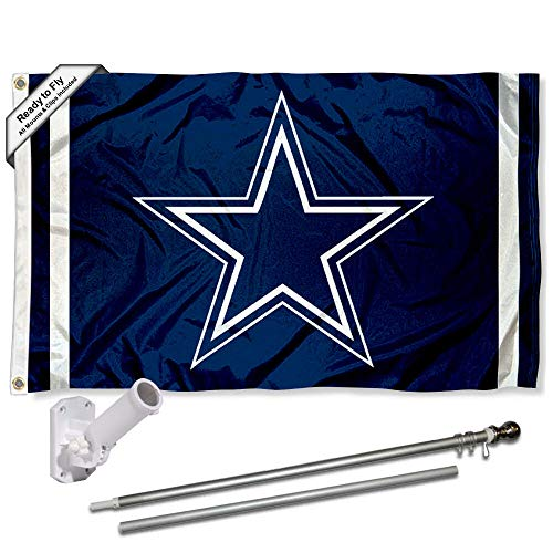 Pole Flag Nfl - Wincraft Dallas Cowboys Flag Pole and Bracket Kit