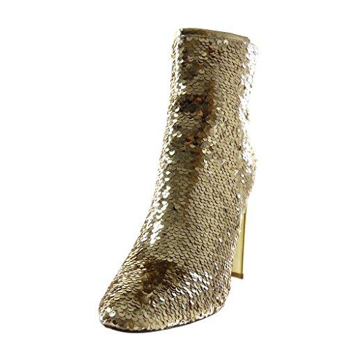 Disco Sequins Bottine Femme Angkorly Chaussure Brillant Mode Dor qpwXptnPg