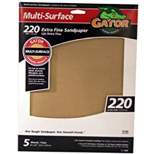 Ali Industries 4443 Grit 9-Inch x 11-Inch Sandpaper - 5 Sheets