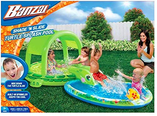 Shade-N-Slide Turtle Splash Pool by Banzai