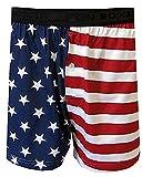 Fun Boxers Mens Fun Prints Boxer Shorts, Americana