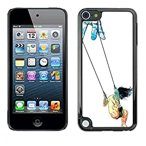 Paccase / SLIM PC / Aliminium Casa Carcasa Funda Case Cover - Symbolic Art Trust Life Swing Girl God Hands - Apple iPod Touch 5