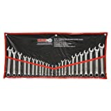 GRIP 89358 MM/SAE Combination Wrench Set, Chrome, 24-Piece