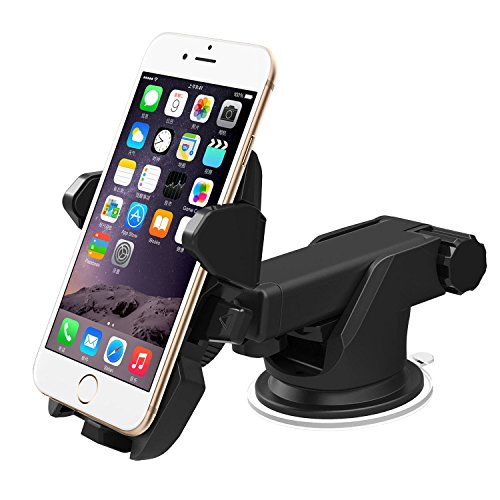 ANSWER Y&M Strong Stick One Touch Car Mount Holder for iPhone X 8 7s Plus 7s 6s Plus 6s 5s 5c Samsung Galaxy S7 Edge S6 S5