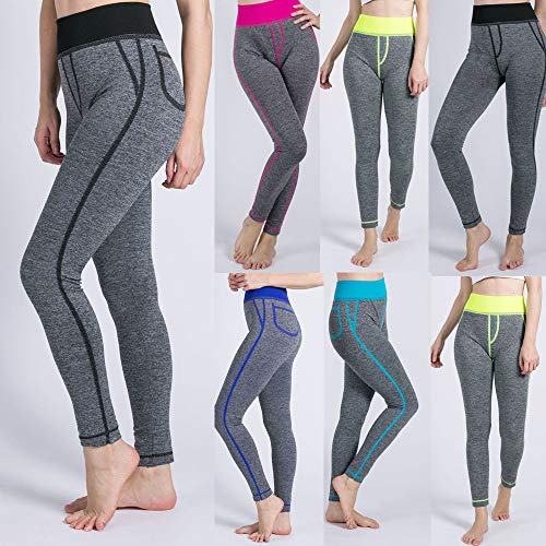 Yoga Tuta Pantaloni Donne Leggins Fitness Mesh Leggings Leggings Leggings Pantaloni Blue Pantalone Pocket Yoga Athletic Sportivi False Yoga Di Pants Morwind Da Sexy Up Push Donne Gym w17gqccRC