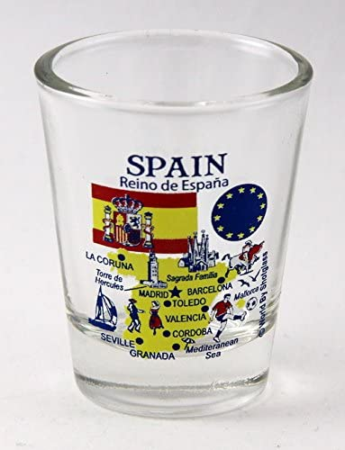 Spain EU Series Landmarks and Icons Shot Glass