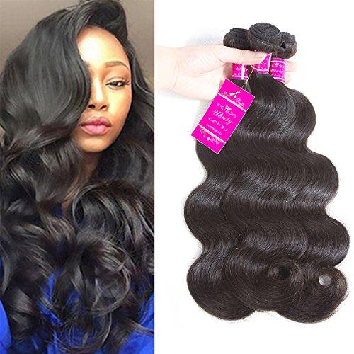 (Brazilian Body Wave 3 Bundles Virgin Brazilian Hair 100% Unprocessed Human Hair Extensions (10.10.12, natural color))