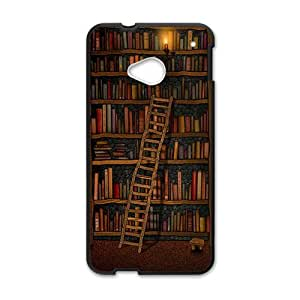 YYYT Light candle bookshelf with book Cell Phone Case for HTC One M7
