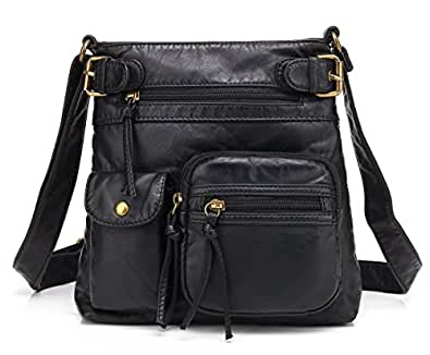 "Scarleton womens Shoulder Bags Black Size: 10.6"" x 9.4"" x 2"""