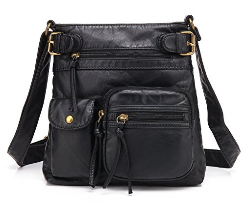Scarleton Accent Top Belt Crossbody Bag H183301 - Black by Scarleton