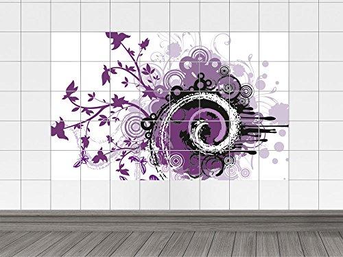 Adesivo per piastrelle adesivi per piastrelle bagno fiori farfalle