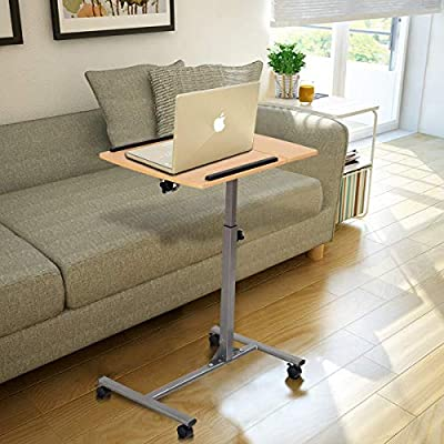 MD Group Adjustable Laptop Desk with Stand Holder and Wheels
