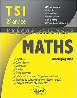 Maths TSI 2e Année Programme 2014