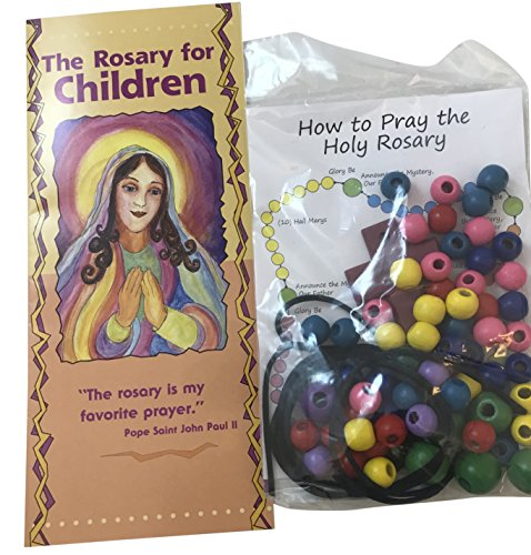 Westman Works Make Your Own Rosary Craft Set with How to Pray the Rosary for Children Pamphlet -