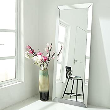 Floor Mirrors Full Length Large Size Mirrored Bevel Framed Mirror for Bedroom Sitting Room Bathroom (30'' x 70'')