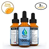 Serenity Hemp Oil - 2 fl oz 1000 mg (Orange) - Certified Organic - Relief for Stress, Inflammation, Pain, Sleep, Anxiety, Depression, Nausea - Rich in Vitamin E, Vitamin B, Omega 3,6,9 and More!
