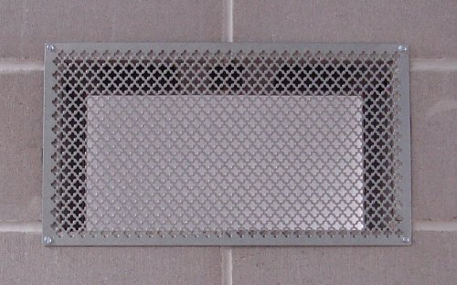 Tjernlund 950-8303 UnderAire Steel Crawl Space Vent, Morning Star Pattern, 18' x 10' Screen (Vent...