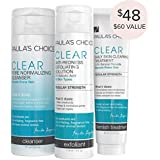 Paula's Choice-CLEAR Regular Strength Acne Kit-2% Salicylic Acid & 2.5% Benzoyl Peroxide Acne Treatment Skincare Kit with Face Wash, Blemish Treatment, and Exfoliator
