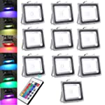 10X 10W 20W 30W 50W 100W RGB couleur...