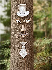 Tree Face Ned Needles With Silver Top Hat and Tie
