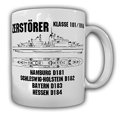 Bavaria Coffee - Destroyer Hamburg Class 101 101A Marine German Armed Forces Ship Hesse Bavaria Hamburg Schleswig Holstein Crew - Coffee Cup Mug