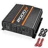 POTEK 2000W Power Inverter Dual AC Outlets 12V DC to 110V AC Car Inverter with 2 USB Port