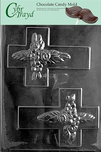 Cybrtrayd R042 Cross for Specialty Box Chocolate Candy Mold