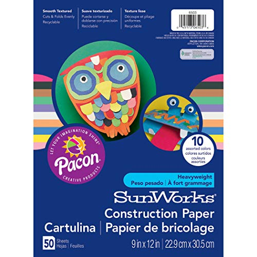 SunWorks PAC6503BN Construction Paper, 10 Assorted Colors, 9