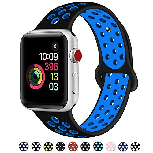 Fashion Police Halloween Edition (DOBSTFY Sport Band Compatible for iWatch Band 38mm 40mm 42mm 44mm, Soft Silicone Sport Band Replacement Ni ke Watch Band Compatible for 2018 iWatch Series 5 4 3 2 1,)